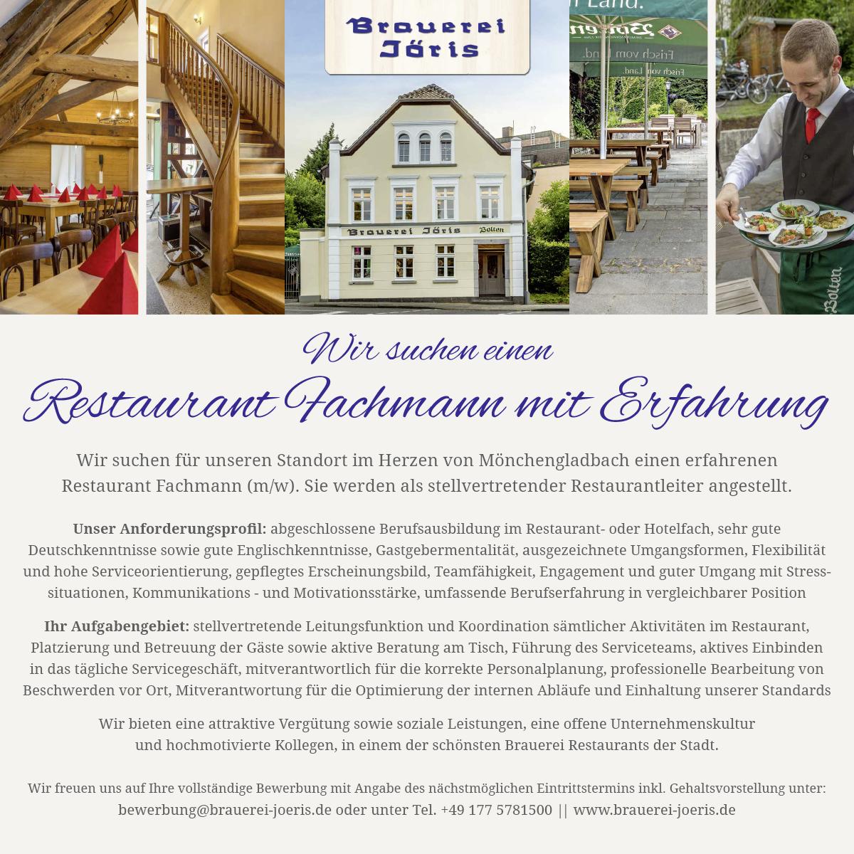 Brauerei_Joeris_Stellenanzeige_fachmann